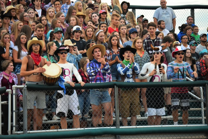 LOHS Student Section Cheers at Football Game