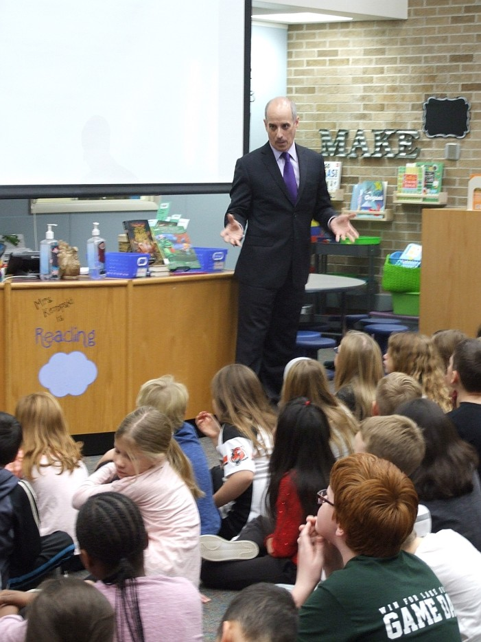 Pine Tree students receive visit from weatherman to make science fun