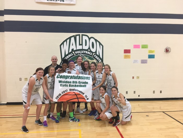 Waldon 8th grade girls finish basketball season 11-0
