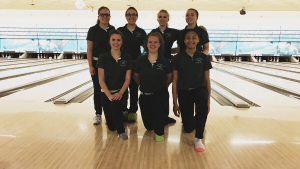 The Lake Orion Girls Varsity Bowling team at State Finals on March 5. Photo provided.