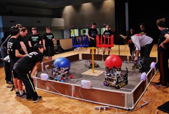 Lake Orion middle school robotics teams compete in Super-Regional tournament