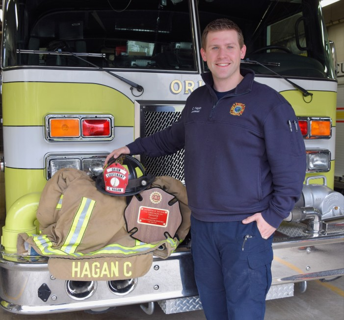 Orion native honored as 'Firefighter of the Year' by peers, VFW
