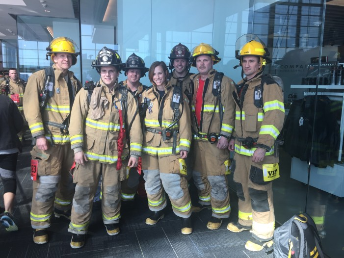 Orion Township firefighters take to the stairs in Fight For Air Climb