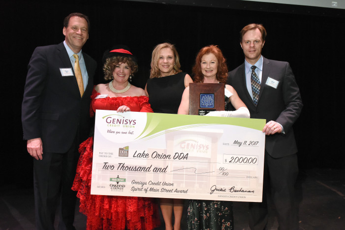 Lake Orion and the DDA receives top honors at  Main Street Oakland County Gala Celebration