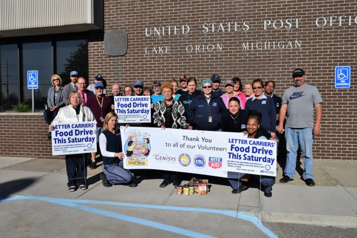LO Post Office will collect on Saturday for the Stamp Out Hunger food drive