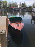 This 1929 Chris-Craft boat, owned by Kevin Adell, can be seen cruising around Lake Orion this summer. Photo provided.
