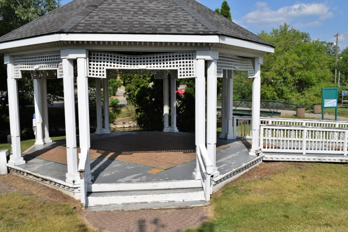 Children's Park gazebo gets refurbished this July with support from Home Depot, the Friends of the LOPD & American Legion Post #233