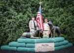 Dog Memorial vets & flag