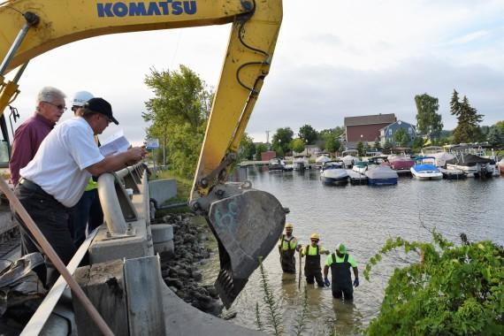Paint Creek dam repairs underway today
