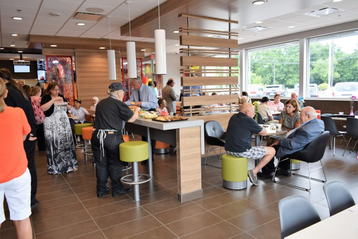 McDonald's reopens with fanfare from community during VIP evening