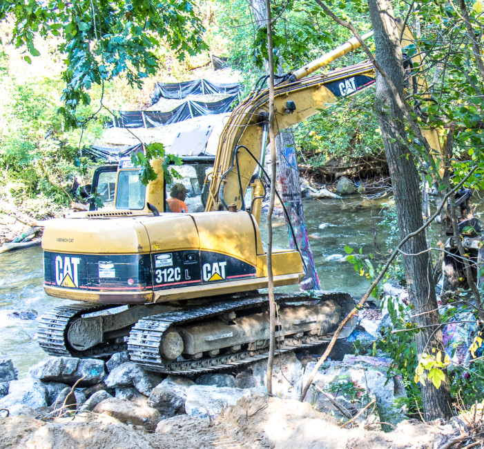 Residents respond vehemently to the removal of 'The Rocks' from Paint Creek
