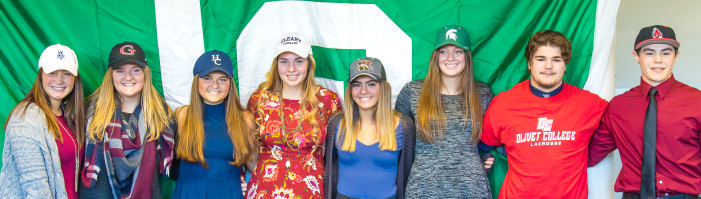 8 LOHS athletes sign letters of intent to play college sports