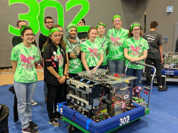 LOHS Girls FIRST Robotics Team 302 places 2nd