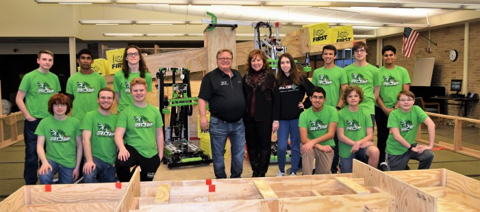 LOHS Robotics Team 302 prepares for tournaments on new practice field