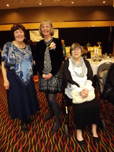 (Left to right) Barbara Geppert, co-president of the GFWC-LO, Renee Miron-Alimpich, club secretary and Sharon Collins, co-president of the GFWC-LO. Miron-Alimpich was honored as a Woman of Achievement during the state convention in April.