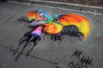 dragon chalk art