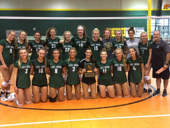 Lake Orion volleyball defeats Northville to take tournament title in season opener