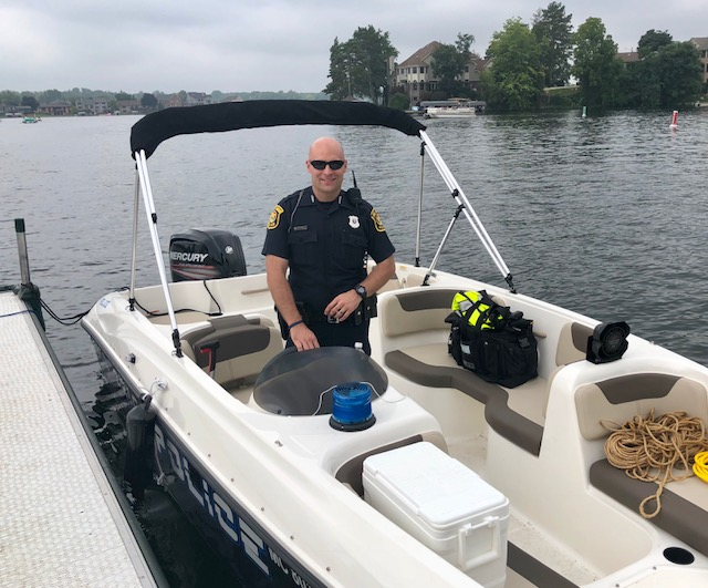 LOPD launches new patrol boat for marine responses on Lake Orion