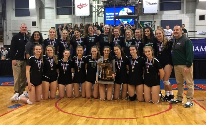 STATE CHAMPS! Lake Orion girls volleyball team  earns first state title