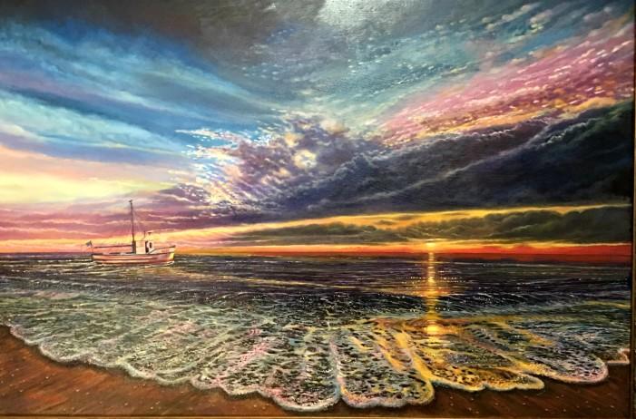 Villalonga wins People's Choice Award with seascape paintings