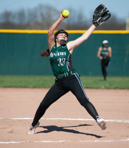 Sierra Gonzales is the Dragon's top pitcher.