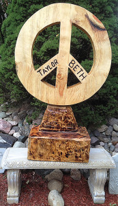 Created by well-known, local chainsaw carver Gary Elzerman, this memorial monument was stolen July 6.