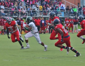 Senior Chris Wilson again led the Dragons' rushing attack with 184 yards on the ground. Photo by Joe St. Henry