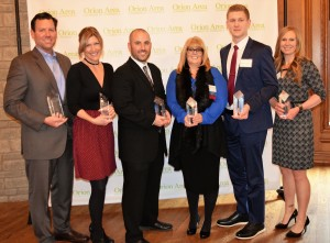 The Orion Area Chamber of Commerce honored Drew Ciora, Patti Charette, Brian Birney, Pam Omilian, Alex Chudzinski and Dana Mosure-Judge at its annual Impact Awards ceremony on Dec. 1.