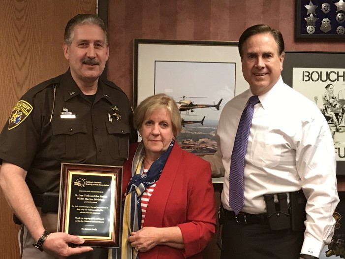 Oakland County Sheriff's Office is  acknowledged for keeping lake users safe