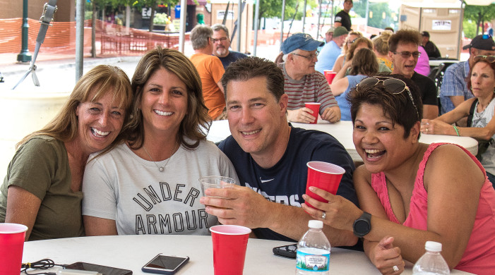 Imbibing for a cause: Party in the  streets with clergy, cops & beer