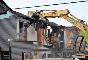 Demolition of the Lake Orion Pet Centre on Flint and Anderson Streets in downtown Lake Orion began about 8 a.m. June 14 and should finish in the next couple of days.