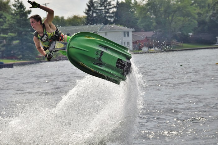 Lake Orion's Evan Krefski takes his freestyle jet ski talents to the Tommy Bartlett Show