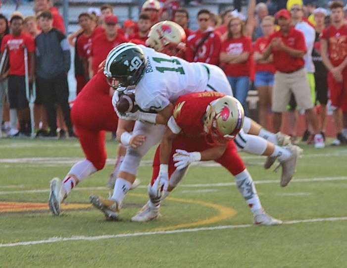 Dragons ground the Redhawks, win their first game of season