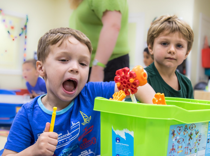 Goddard School kids participate in Preschooler-Approved Toy Test