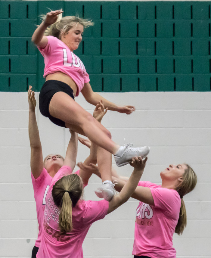 Lake Orion competitive cheer team is athletic and intense