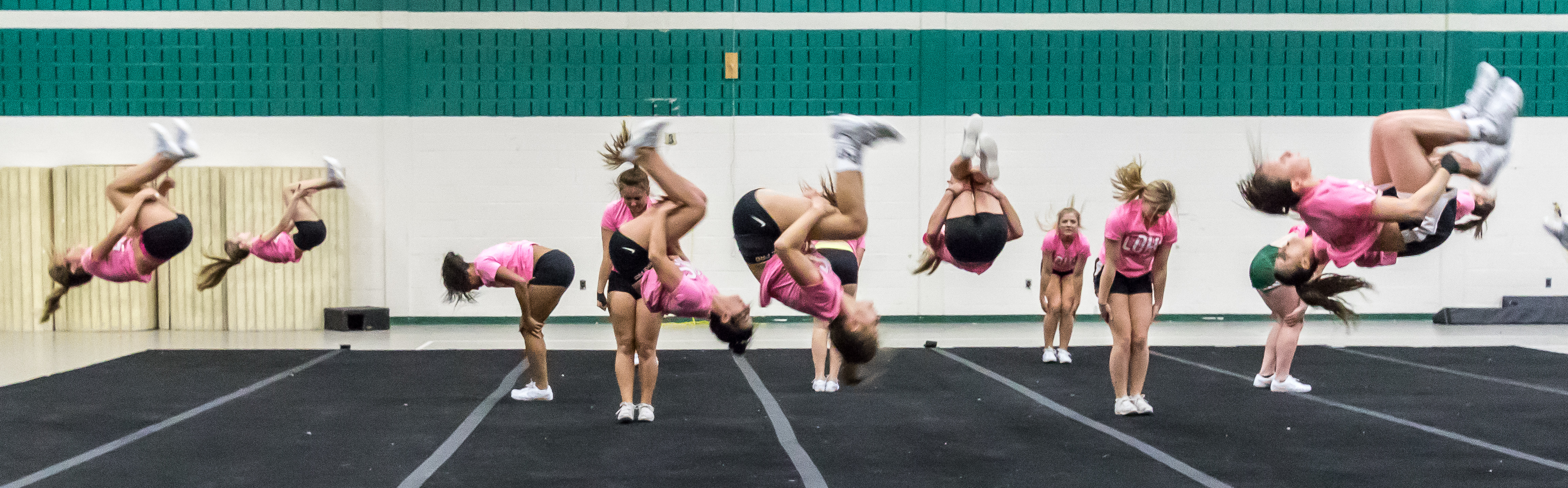 Competitive Cheer fliping
