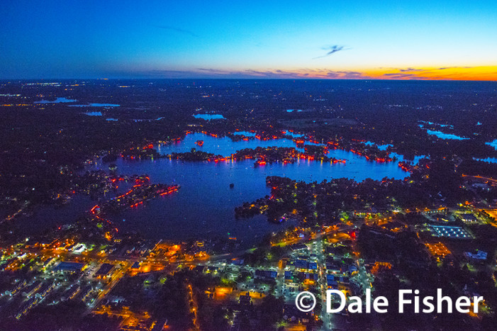 'Light up the Night' during Flare night on Lake Orion, June 29