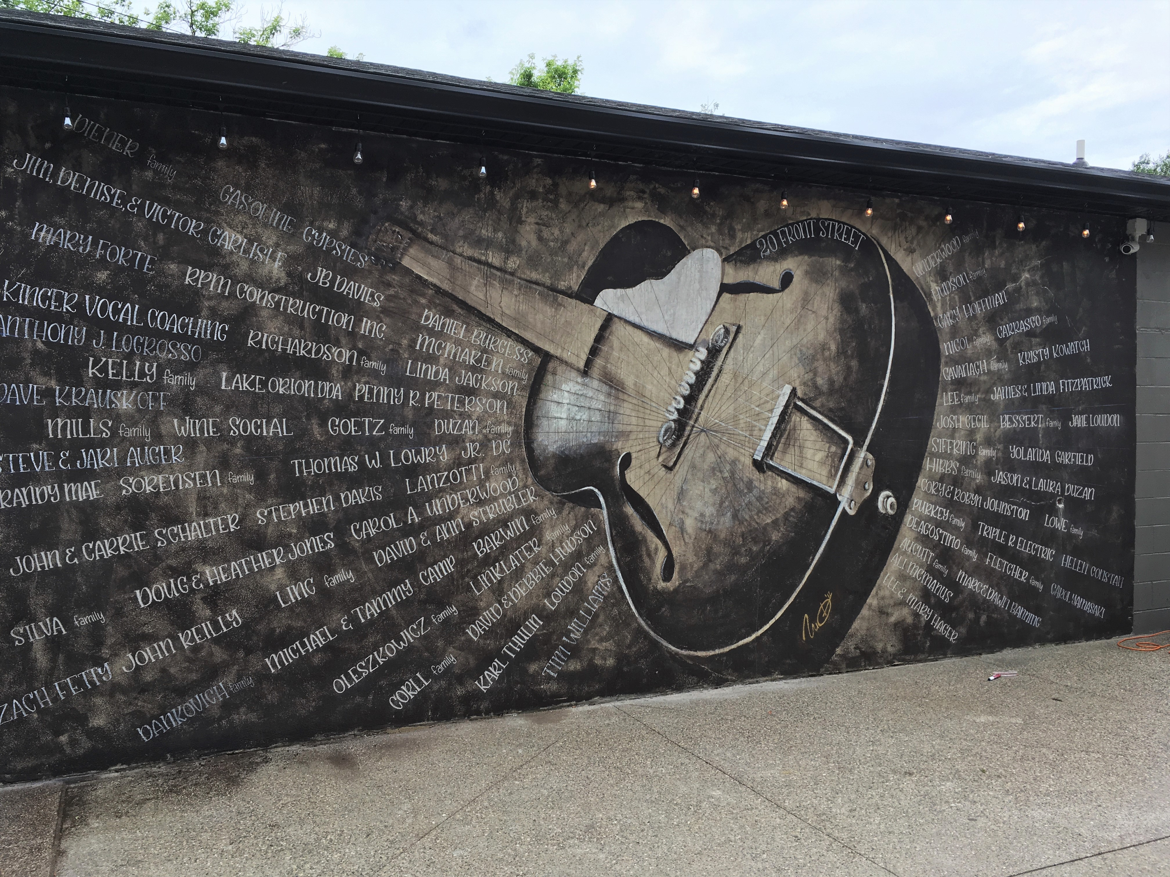 guitar mural