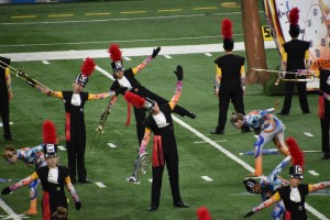 The LOHS Marching Band's performance earned them fourth place in the State Championship. Photo courtesy of Brian Nordin.