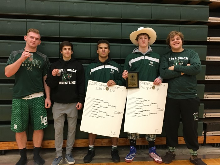 Dragons wrestling gives another strong performance at the Oakland County Championship Tournament