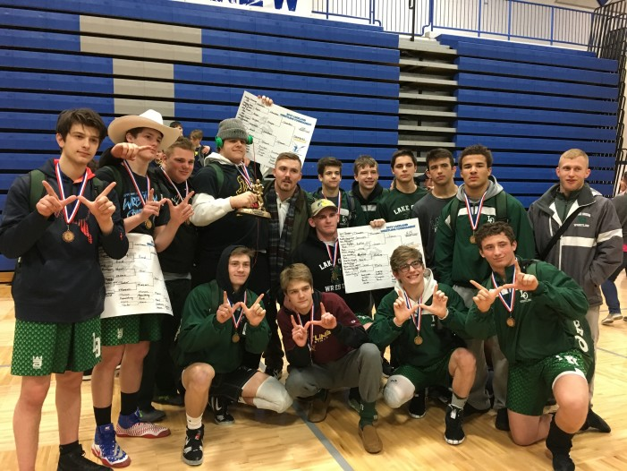 Lake Orion varsity wrestling takes 1st place in Lakeland Invitational