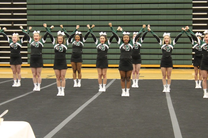 Lady Dragons Competitive Cheer Squad takes 2nd place in District Competition