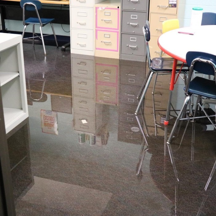 Carpenter Elementary floods