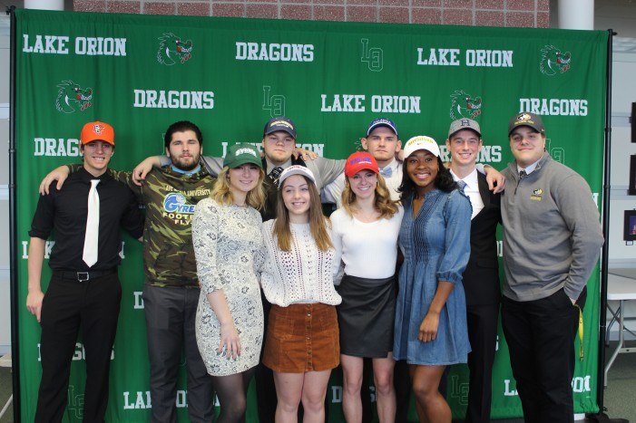 10 Lake Orion student-athletes sign to play college sports