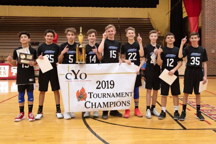 St. Joseph boys 7th grade basketball team wins CYO Tournament Championship