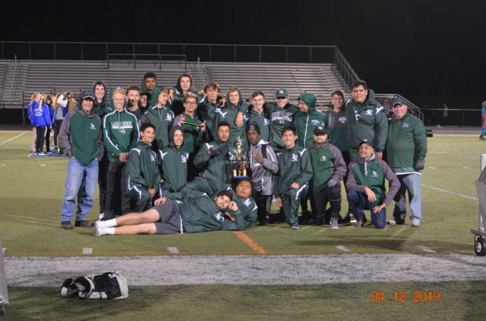 Men's track team ties Adams, takes 2nd place at the Brandon Invitational