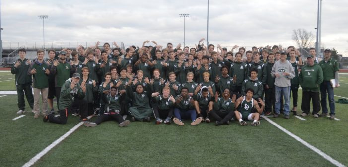 LO boys track team ends season undefeated in dual meets, finish first at New Balance Invitational