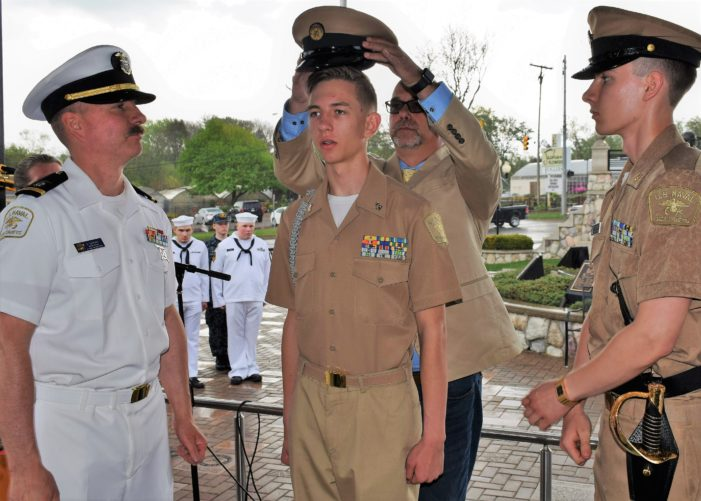 Lake Orion student Ethan Cleveland promoted to Chief Petty Officer in the Naval Sea Cadets