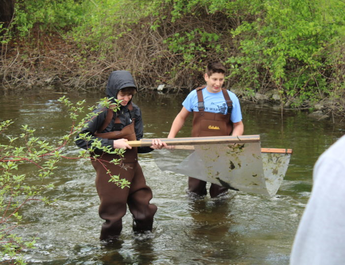 Testing the water: Scripps M.S. students examine the water quality of Paint Creek