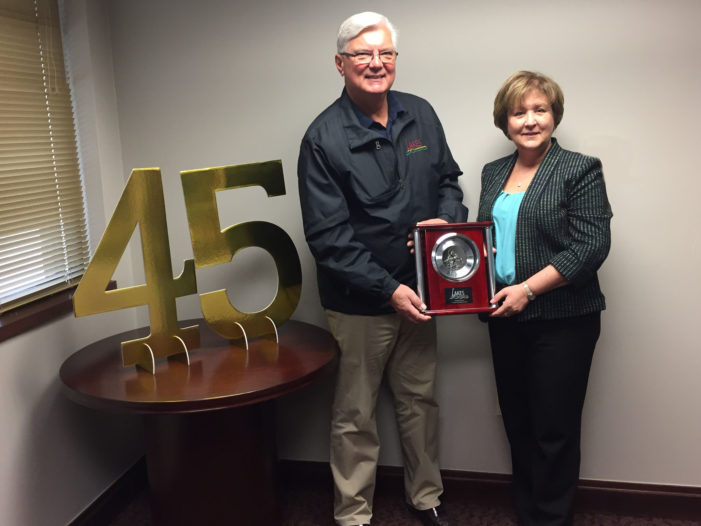 Lakes Community Credit Union Pres./CEO celebrates 45 years with the company